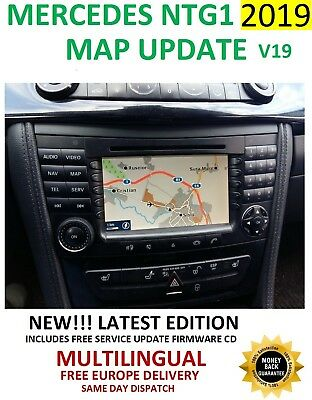 Mercedes 2019 Ntg1 V19 Comand Sat Nav Map Update Navigation Dvd - Latest 2019 !!