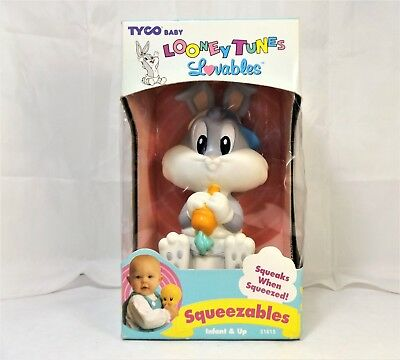Tyco Baby Looney Tunes Lovables Bugs Bunny Squeezables Infant Toy NOS 1995