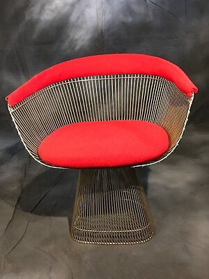 Knoll Platner with Red upholstery, Mid Century Modern