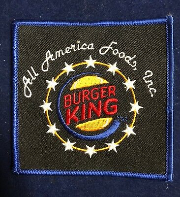 Burger King fast food Uniform Patch