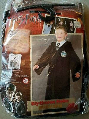 O NEW Child Rubies Harry Potter Slytherin Robe Halloween Costume Size L