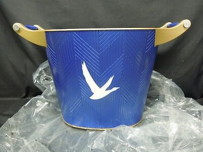 Rare Grey Goose Large 2 Bottle LED Lighted Ice Bucket With Handles NEW