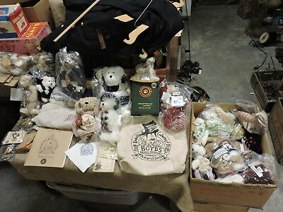 Vintage Lg. Group Lot of Boyd's Bears, Mohair, Resin, Collectibles, Misc., Etc..