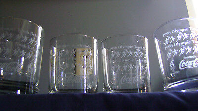 1996 Olympic ''coca-Cola'' Collector  Glasses (Set Of Four)