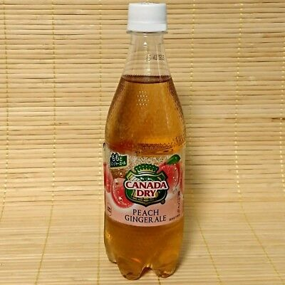 Canada dry- Limited Japanese PEACH Ginger Ale soda RARE
