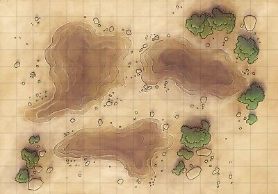 Battle Grid Game Mat Role Playing Rpg For Dnd Map Dungeons