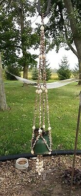 Seashell Hanging Plant Pot Holder for your Home/Garden/Patio RARE Find Beautiful