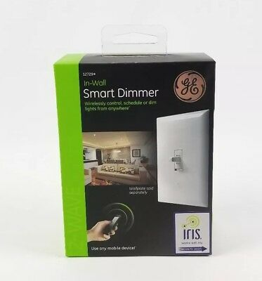 GE 12729 Z-Wave In-Wall CFL LED Smart Dimmer Switch New Control From any Device