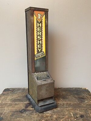 Rare 1930's Moderne Vendor Hershey 1 Cent Candy Bar Machine by A. Walzer Co.