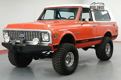 1972 CHEVROLET BLAZER RESTORED CUSTOM 4x4 CONVERTIBLE AC V8 WINCH
