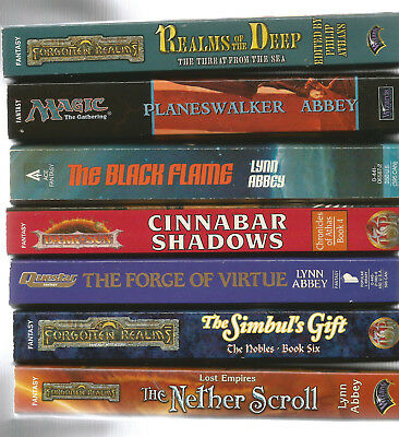 Lynn Abbey -Lot of 7 brand new condition fantasy books--SIGNED Lynn Abbey #99-3