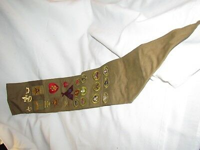 Vintage Boy Scouts Of America Sash With Patches And Pins Please See Photos