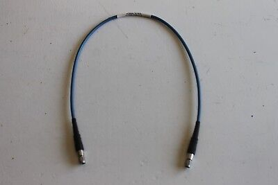 "HUBER + SUHNER 24"" ST18/SMAm/SMAm/24 MALE SMA TO MALE SMA RF CABLE SUCOTEST"