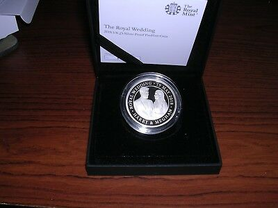 Prince Harry & Meghan Markle Official 5 Pound Wedding Silver Proof Coin
