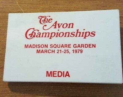 Avon Championships (Tennis)  Madison Square Garden 1979 Media Badge Plastic Pin