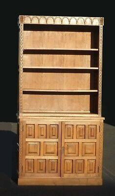 Vintage Mid Century Modern Teak Bookcase Cabinet Shelves ~ French Country Hutch