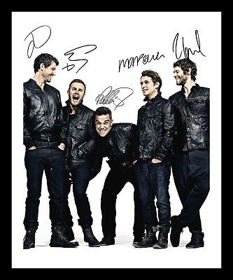 Take That Autographed Signed & Framed Pp Poster Photo