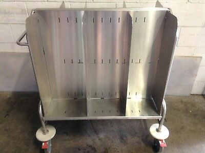 Moffat Commercial Stainless MOBILE Adjustable Width Plate Trolley Cart