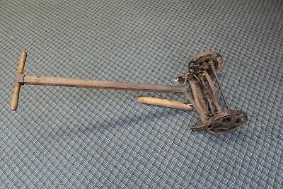 Vintage Push Reel Lawnmower with Steel Wheels