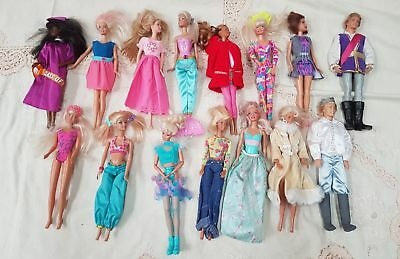 JOB LOT 15 mixed various dolls in different conditions #628