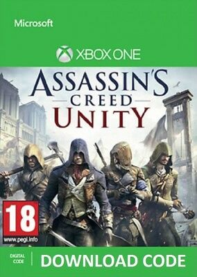 DIGITAL DOWNLOAD Assassin's Creed Unity XBOX ONE Full Game redeem on Xbox Live