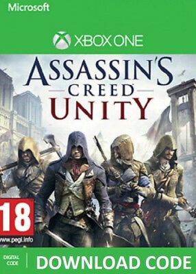 Assassin's Creed Unity DIGITAL DOWNLOAD XBOX ONE Full Game redeem on Xbox Live