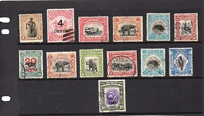North Borneo collection of earlier postally used