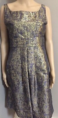 Purple and gold sleeveless  metallic dress by Moschino Cheap  and Chic sz 6