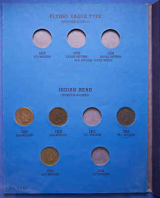 1857-1909 Indian Head Cent Album Includes 1908-S Total 47 Coins