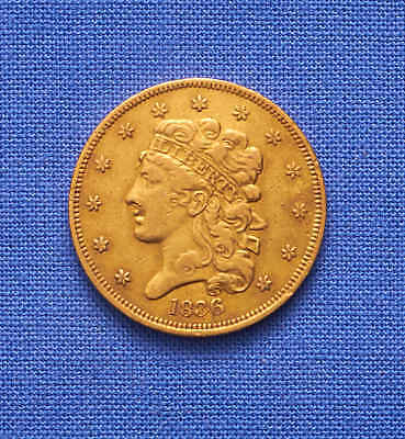 1836 Classic Head $5 Gold Coin. High Grade. No Reserve.