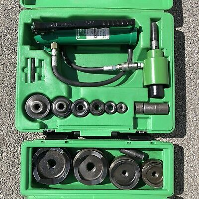 """Greenlee 7306SB 7304 1/2- 4"""" SlugBuster Hydraulic Knockout with punches 767 746"""