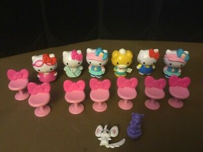 Hello Kitty Lot Of 6 Toys With Chairs