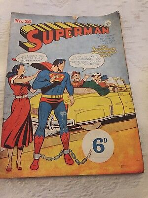 Australian Superman Comic Number 26 1950's