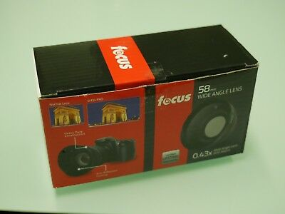 Focus 58mm 2.2X Telephoto & 0.43X Wide Angle with Macro Lens Kit