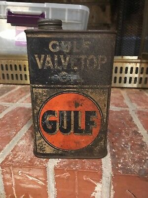 Gulf Oil Valvetop Pint Metal Can