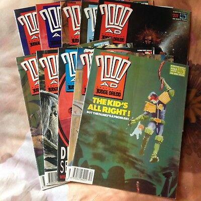 2000AD - 10 early progs - 650 - 659 - VGC