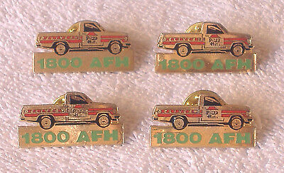 *4* PIZZA HUT 1800 AFH PIN LOT Accident Free Hours DELIVERY DRIVER Pinbacks SAFE