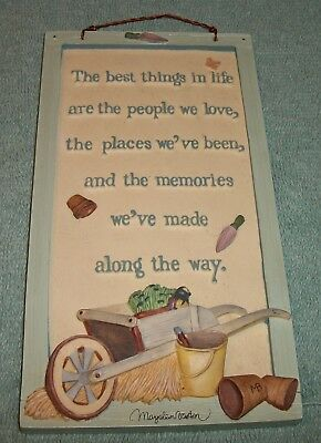 Marjolein Bastin Hallmark Natures Sketchbook Frame Picture BEST THINGS IN LIFE