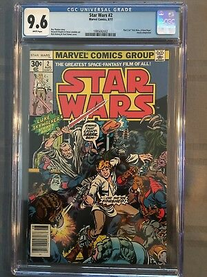 "Star Wars 2 From 1977 CGC 9.6 White Pages ""A  New Hope"""
