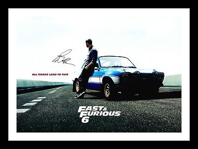 Paul Walker - Fast & Furious Autographed Signed & Framed Pp Poster Photo