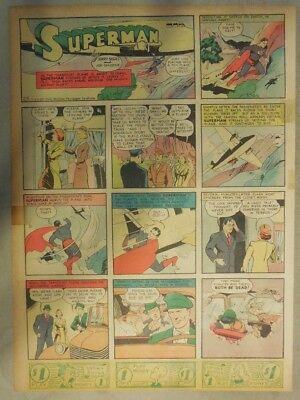 Superman Sunday Page #25 by Siegel & Shuster from 4/21/1940 Tab Page: Year #1!