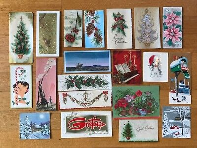 Lot of 20 Vintage Christmas Greeting Cards 20 many 1961
