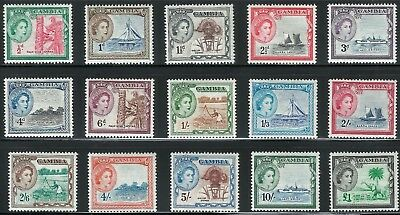 Gambia Scott 153-67 complete Mint OG previously hinged