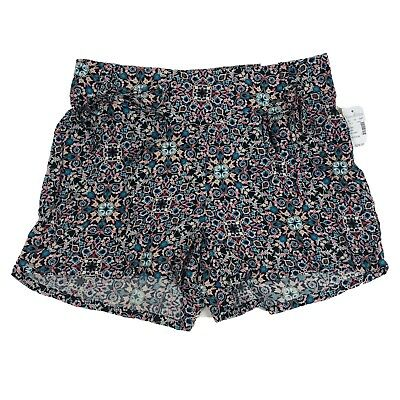 NEW $29 Maurice's Women's Size M Floral Soft Shorts Ties Lounge