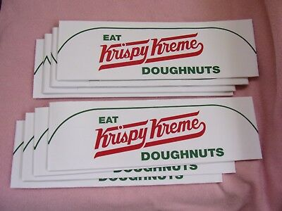 8 Krispy Kreme Doughnuts paper employee cook hats ad advertising crispy cream