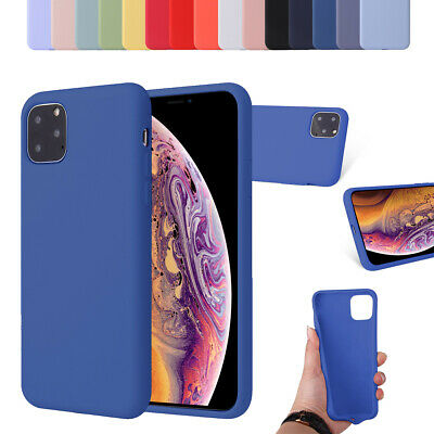 Shockproof Genuine smooth Silicone Protective Phone Case For iPhone XR XS Max