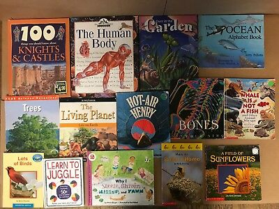 Lot of 20 Science Nature Experiment Geographic Animal Educate Children Book #Y35