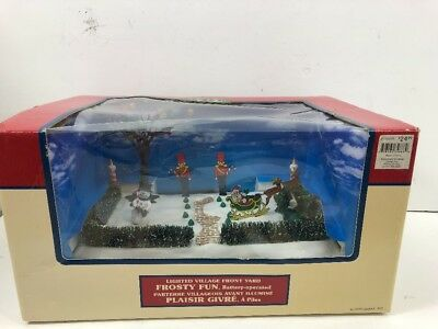 Lemax Frosty Fun Lighted Frontyard #34886 (2003) Christmas Village Display Mib