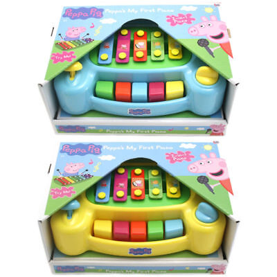 Peppa Pig Toy My First Piano 2 In 1 Piano Musical Fun Child Instrument Xmas TOY