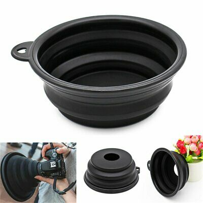 Silicone Lens Hood Anti-reflective For Camera Photography Outdoor Indoor New DM